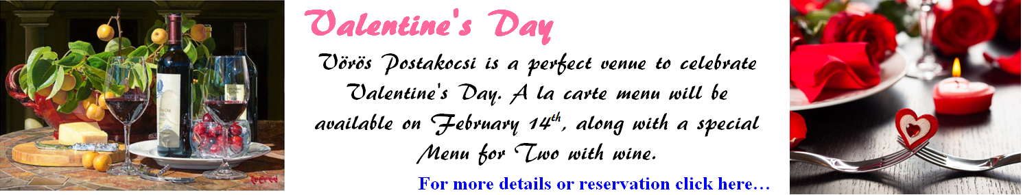 Valentine's Day Special Menu for 2